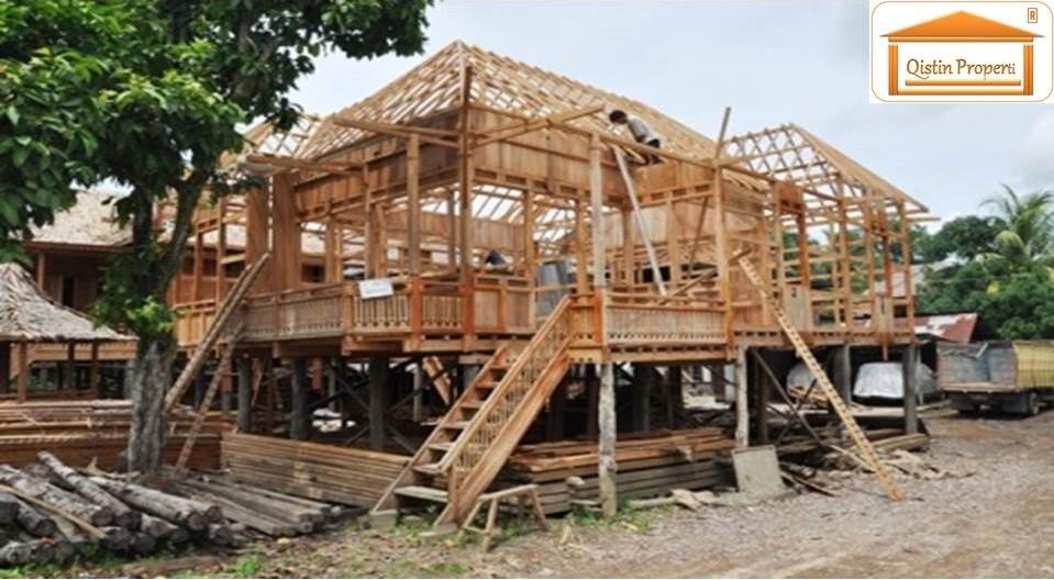 jasa bangun rumah kayu modern