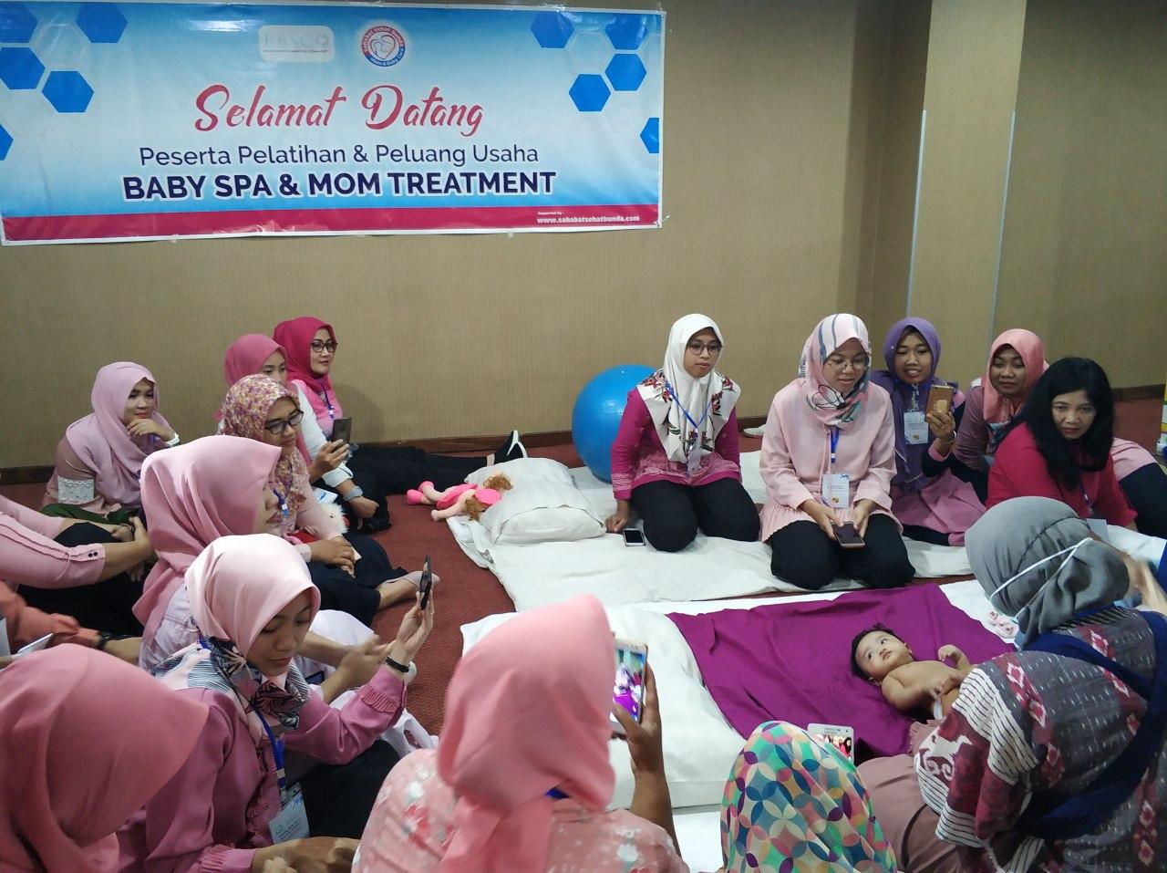 praktek langsung baby spa